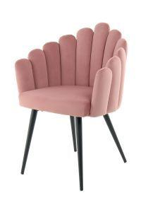 Kayoom Eetkamerstoel 'Jeane' Velvet, kleur roze