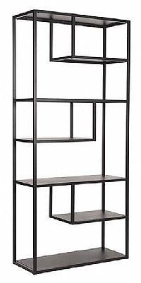 LABEL51 Boekenkast 'Loft', Metaal, 87 x 35 x 182cm, kleur Zwart