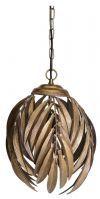 PTMD Hanglamp 'Mea', Metaal, 36.5 x 32 cm, kleur Goud