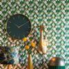 Light & Living Klok 'Timora' Ø51cm, kleur Donkergroen
