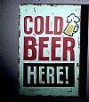 Artistiq Muurbord 'Cold Beer' 45 x 30cm