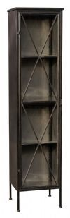 PTMD Vitrinekast 'Simple' Metaal, 200 x 49cm