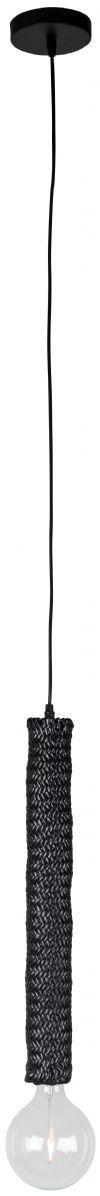 Dutchbone Hanglamp 'Tan' Rattan, kleur Zwart