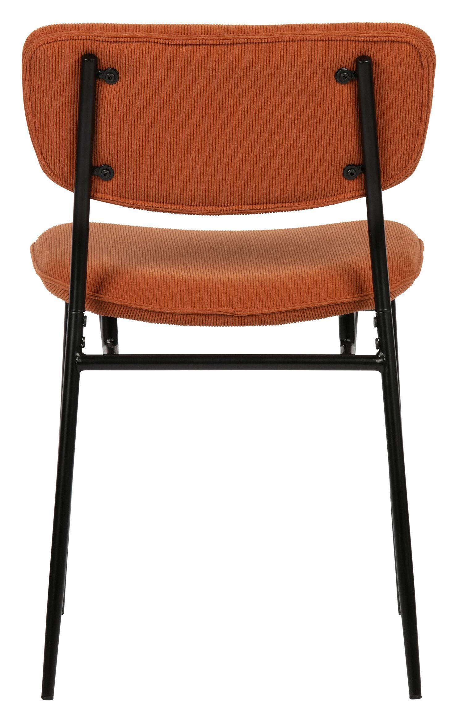 WOOOD Eetkamerstoel 'Dané' Rib, kleur Oranje