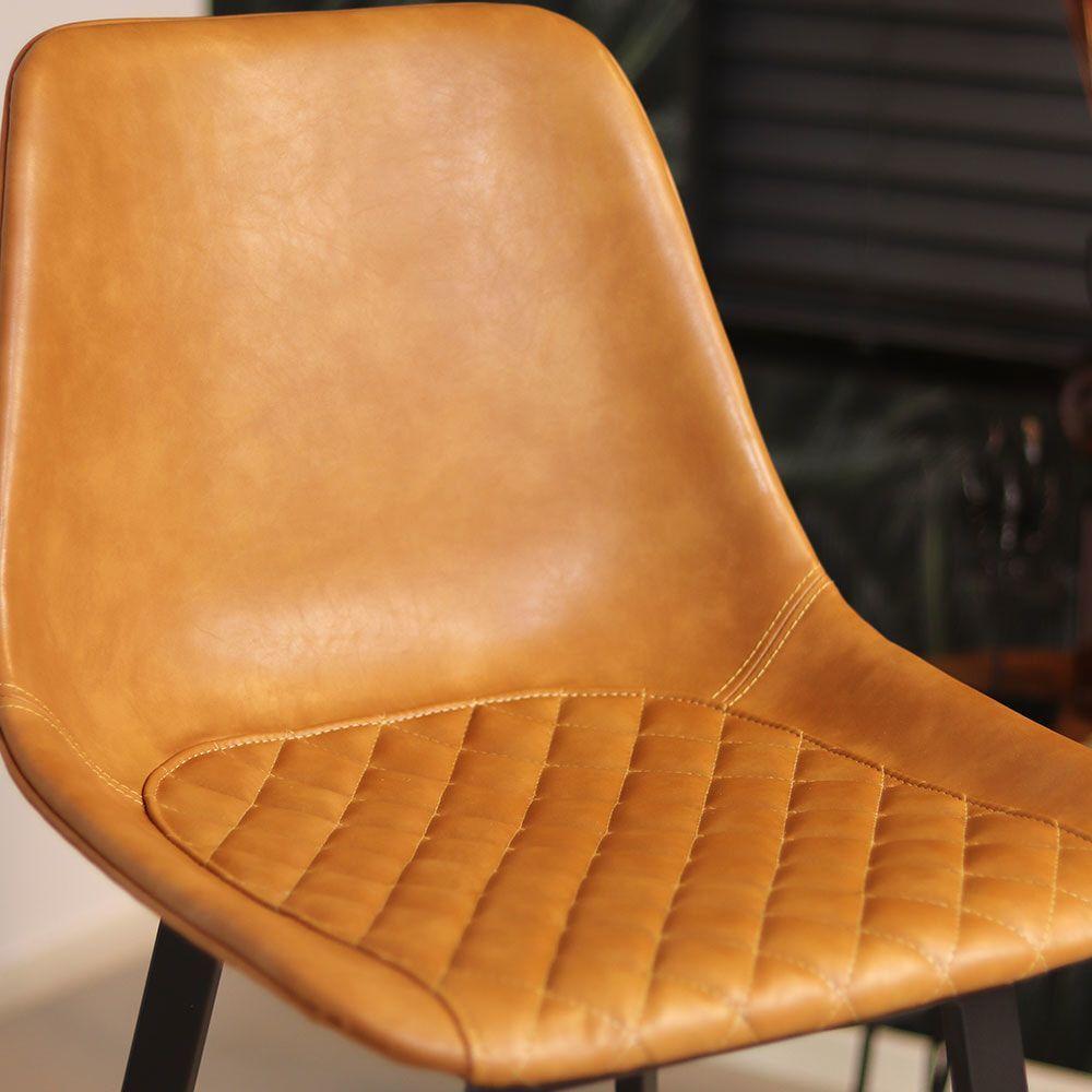 Barkruk 'Lauren' kleur cognac (zithoogte 75cm)