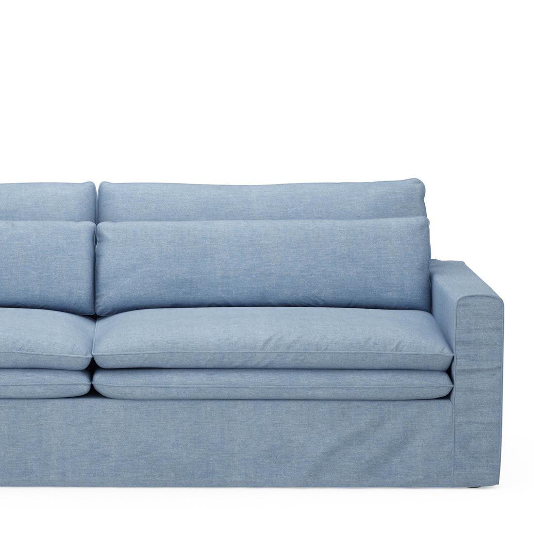 Rivièra Maison 3,5-zits Bank 'Continental' Washed Cotton, kleur Ice Blue
