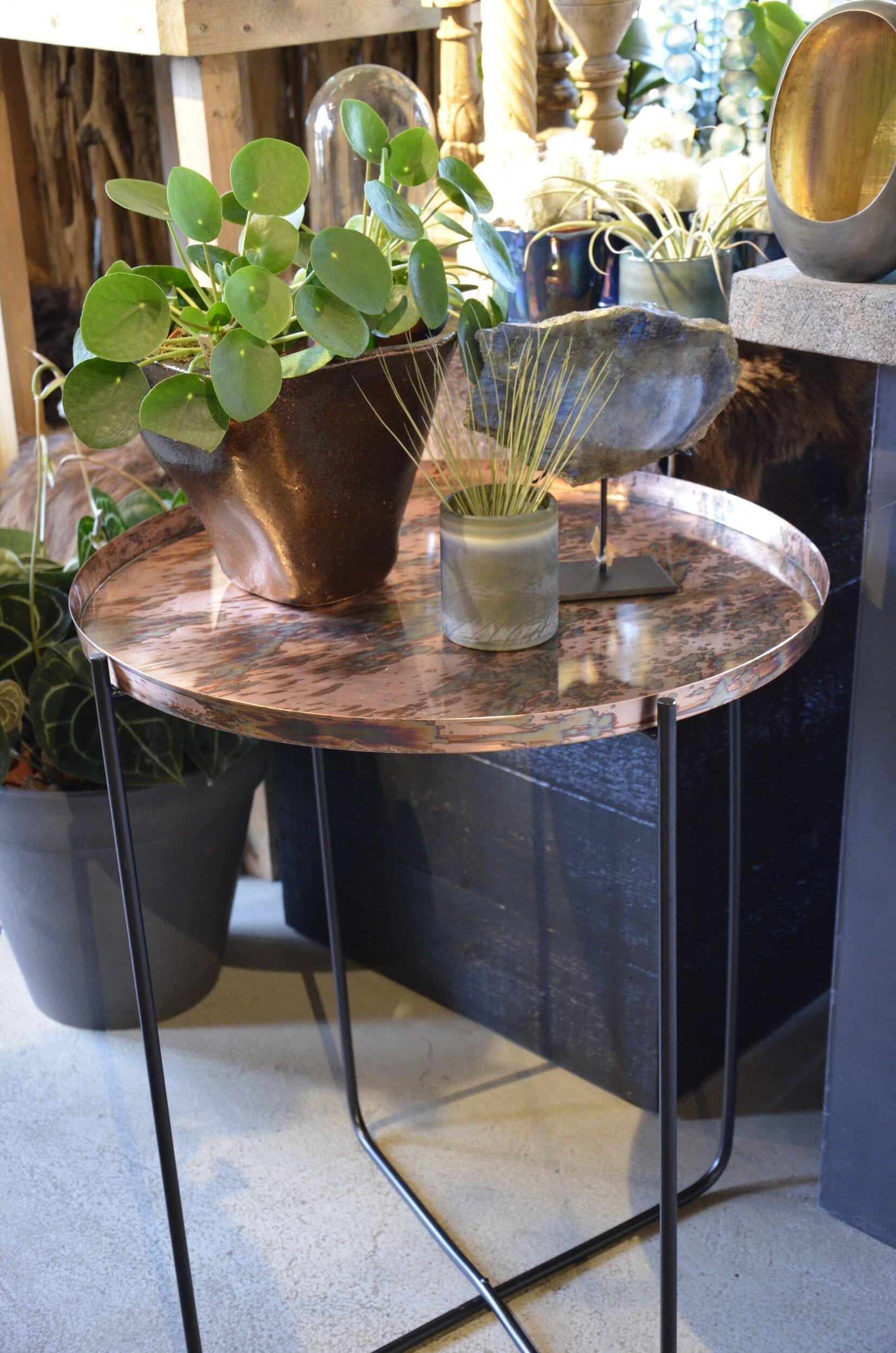 Lesli Bijzettafel 'Copper' ø60 x 75cm