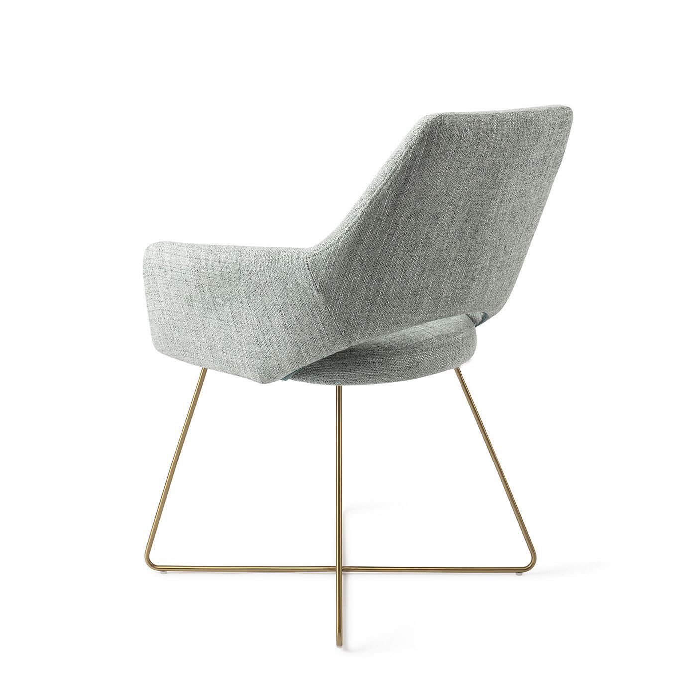 Jesper Home Eetkamerstoel 'Yanai' Cross Gold, kleur Soft Sage