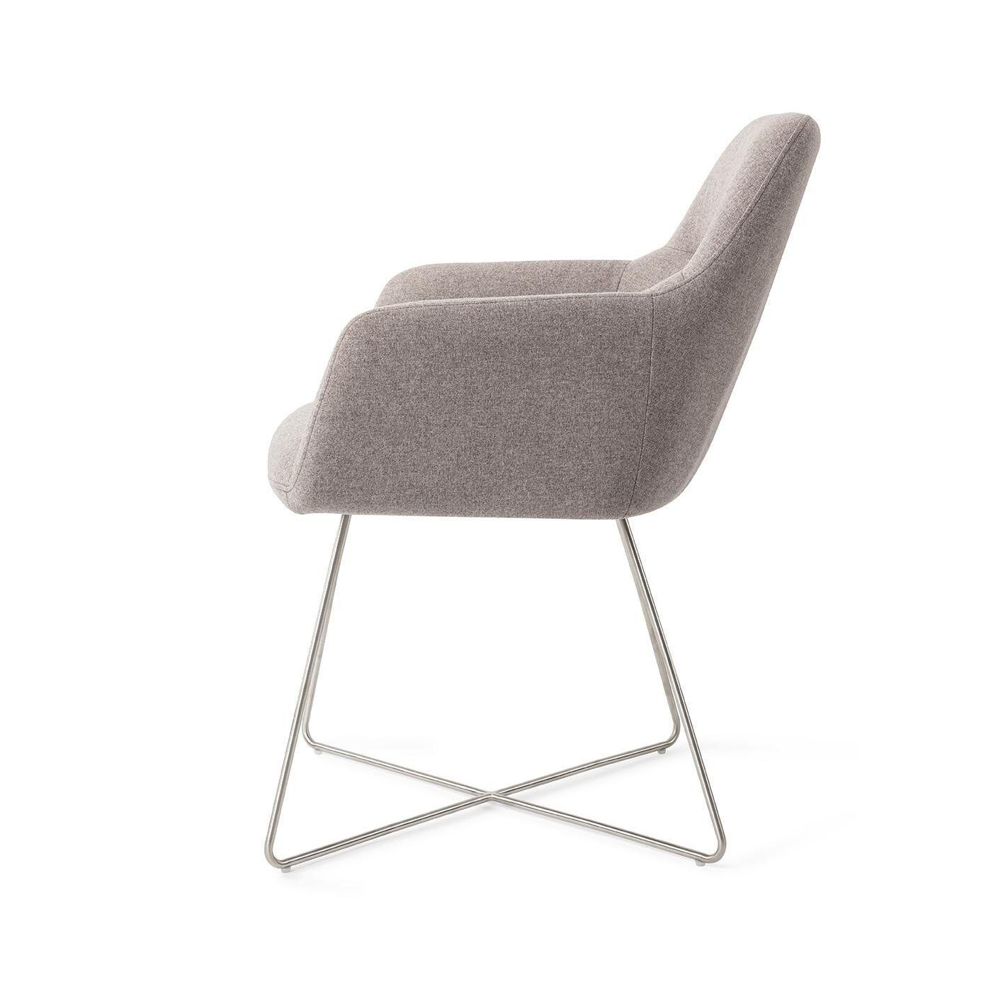 Jesper Home Eetkamerstoel 'Kinko' Cross Steel, kleur Earl Grey