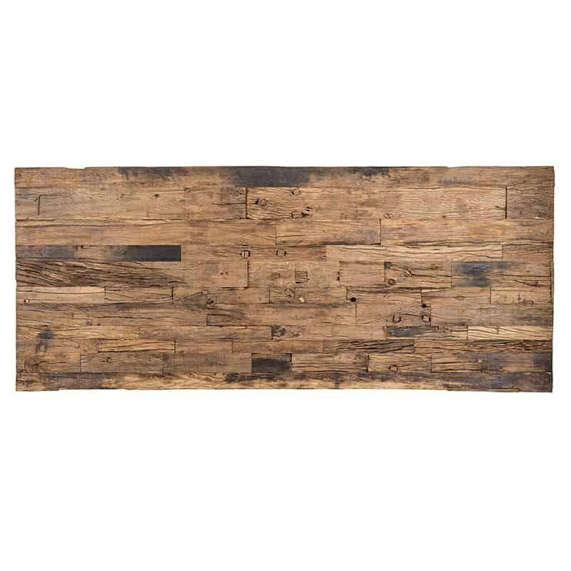 Richmond Eettafel 'Kensington', Gerecycled Hout en Staal, 200 x 100cm