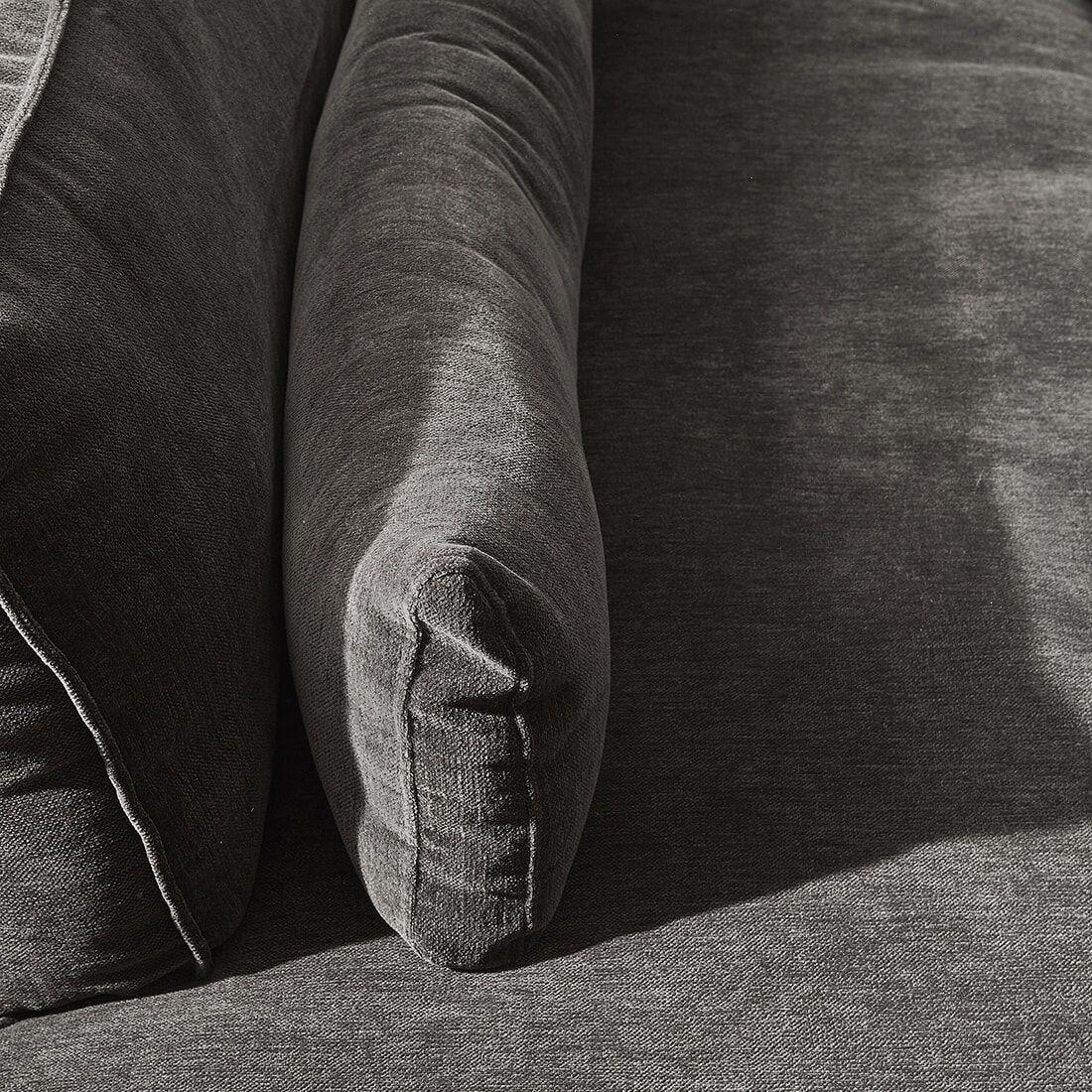 Rivièra Maison Loungebank 'Brompton Cross' Links, Velvet, kleur Grimaldi Grey