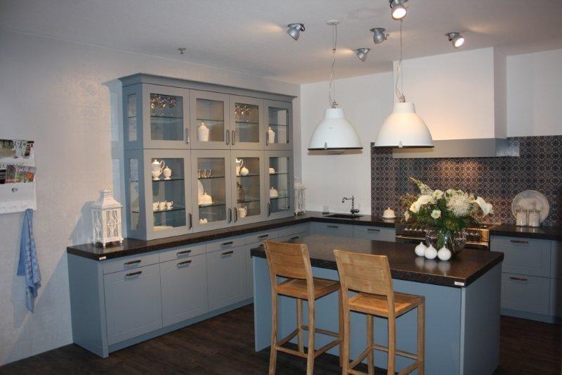 Keuken Grijs Blauw : Showroomuitverkoop.nl